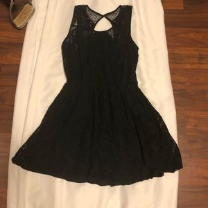 Abercrombie and Fitch Black Lace Dress Medium